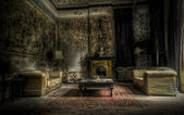 Abandoned living room — Stockfoto