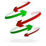 kleurrijke pijlpictogram — Stockvector  #9639101