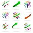 Colorful Arrows Icons — Stock Vector