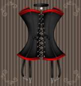 Lady's black corset — Vecteur