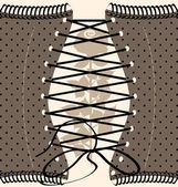 Rosa e sfondo corsetto — Vettoriale Stock