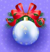 Christmas ball-clock — Stock Vector