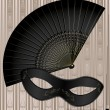Royalty-Free Stock Vector Image: Old mask and fan