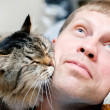 Man with cat — Stock Photo