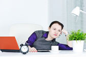 Business woman bored — Foto de Stock