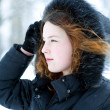 Portrait of woman in winter — Stock Photo #8858620