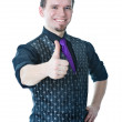 Happy man thumbs up — Stock Photo