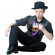 Man with mug of beer — Stock Photo