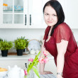 Beautiful womin kitchen — Stock Photo #9683776
