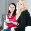 Two women drinking coffee — Stock Photo
