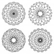 Set of vector guilloche rosettes — ストックベクター #10450864