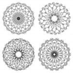 ensemble de rosettes guilloché vector — Vecteur