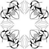 Ornamental square border — Stock Vector