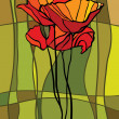 Royalty-Free Stock Imagen vectorial: Stained glass window