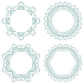 Set of vector guilloche rosettes — Stock Photo