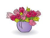 Vettore tulipani — Vettoriale Stock