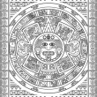 Stylized Aztec Calendar - Stock Vector