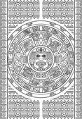Stylized Aztec Calendar — Stock Vector