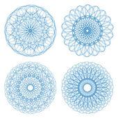 Set of vector ornament rosettes — Stock Vector