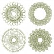 Set of vector guilloche rosettes — Stockvektor