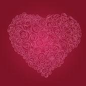 赤いバラのハート — ストックベクタ