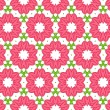 Seamless colorful floral pattern background — Stock Vector