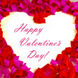 St. Valentine's day greeting background — Stock Photo