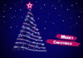 Vánoční pozdrav na modrém pozadí — Stock fotografie