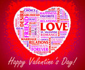 St. Valentine's Day collage — Foto Stock