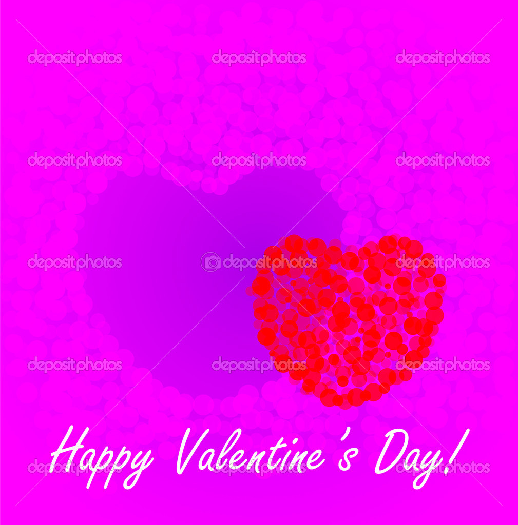 St. Valentine's Day background with two hearts — Stock Photo #8515220