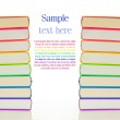 Stacks of colorful books - library concept — Stock Photo #8759338