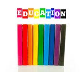 Multi color books - education concept — Stock Photo