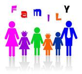 Familie aus sechs mitgliedern — Stockfoto