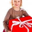 Royalty-Free Stock Photo: Beautiful little girl with presents