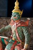 Khon-Thai culture drama dance show — Foto de Stock