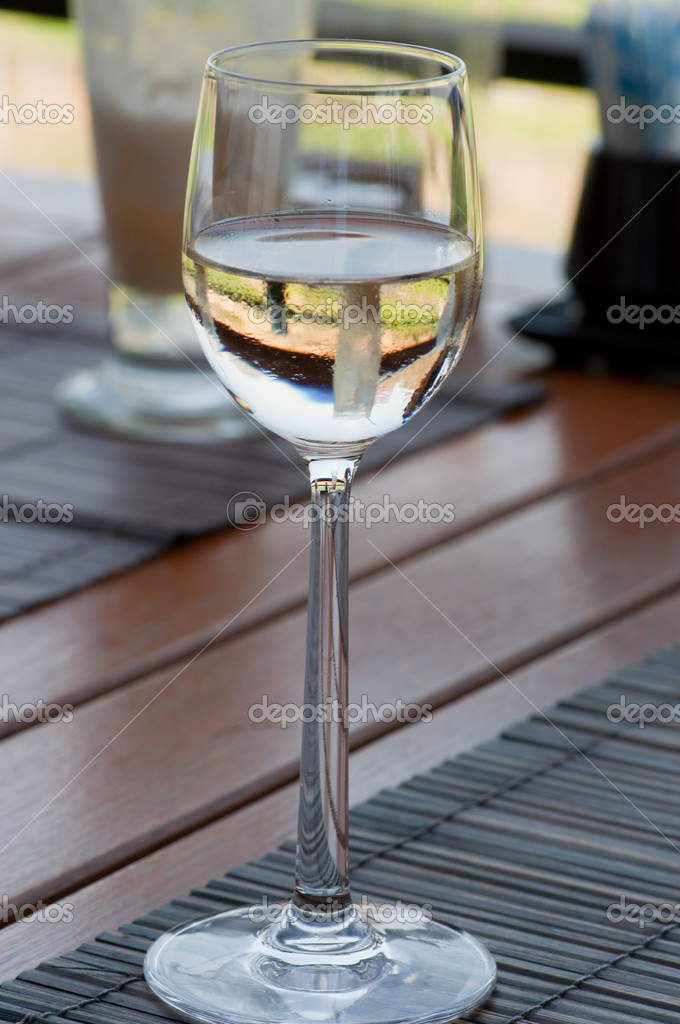 Glass of white wine — Stock Photo #8685417