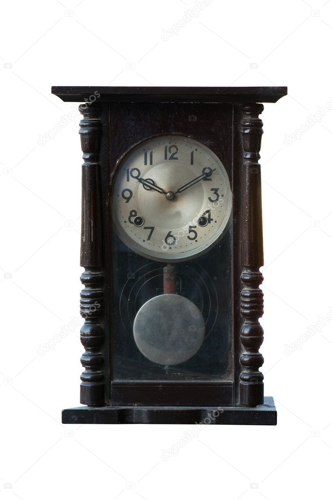 Isolated old clock on white background — Stock Photo #8793761