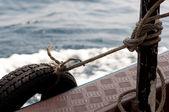 Ship bumper — Stock Photo