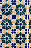 Mosaic wall in Moroccan style — Stock Photo