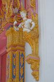Beautyful Thai Buddhist church in Wat Thai — Stock Photo