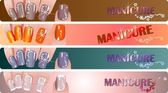 Manicure banners set — Stock Photo