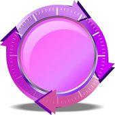 Rosa schaltfläche herunterladen — Stockvektor