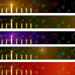 Hanukka banners set — Stock Vector #8633019