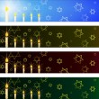 Hanukka banners set - Vettoriali Stock 