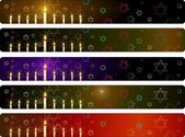Hanukka banners set — Stock Vector