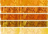 Jeu de bannières de miel — Vecteur