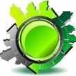 Green button download — Image vectorielle