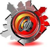 Sonido botón — Vector de stock