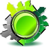Green button download — Stock Vector