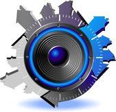 Button sound — Stock Vector